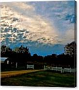 A Sky Like Turquoise And Mother Of Pearl Canvas Print