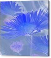 A Slanting Blue Wind  Canvas Print