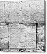 A Small Part Of The Wailing Wall In Black And White Canvas Print