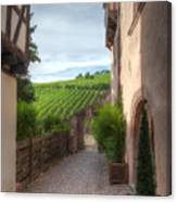 A  Small Side Street In Riquewihr Canvas Print