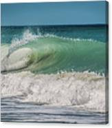 A Small Tube Wave In Atlantic Ocean Canvas Print
