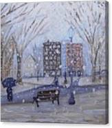 A Snowy Afternoon In The Park Canvas Print