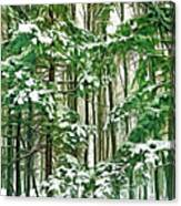 A Snowy Day - Paint Canvas Print