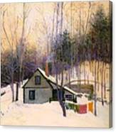 A Snowy Monday Canvas Print