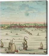 A South East View Of The Great Town Of Boston In New England In America, 1730 Canvas Print
