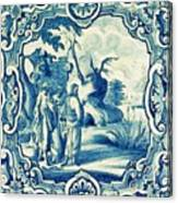 A South-german Faience Stove Tile Second Half 18th Century, By Adam Asar, No 18a Canvas Print
