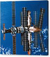 A Space Station Orbiting In Space Canvas Print