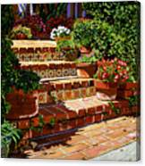 A Spanish Garden Canvas Print