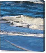 A Splash In The Surf Canvas Print
