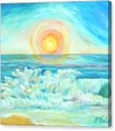 A Splash Of Dawn Canvas Print