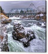 A Spokane Falls Winter Canvas Print