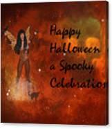 A Spooky, Space Halloween Card Canvas Print