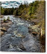 A Spring Day At Little Woodhull Creek Canvas Print