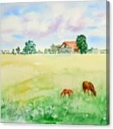 A Spring Graze Canvas Print