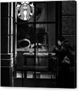 A Starbucks Respite In Downtown San Jose Canvas Print