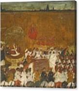 A State Procession Of Raja Tulsaji Canvas Print