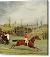 A Steeplechase - Another Hedge Canvas Print