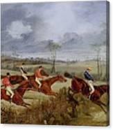 A Steeplechase - Near The Finish Henry Thomas Alken Canvas Print