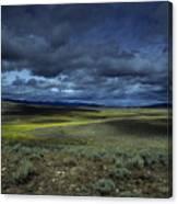 A Storm Builds Up Over A Colorado Canvas Print