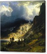 A Storm In The Rocky Mountains Mt. Rosalie, 1866 Canvas Print
