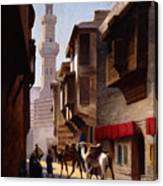 A Street In Cairo Canvas Print