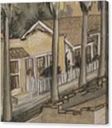 A Street In California Canvas Print