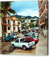 A Street In Puerto Vallarta Canvas Print