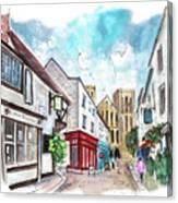 A Street In Ripon Canvas Print