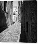 A Street In Sicily Canvas Print
