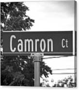 Ca - A Street Sign Named Camron Canvas Print