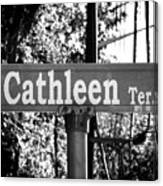 Ca - A Street Sign Named Cathleen Canvas Print
