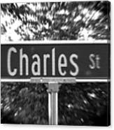 Ch - A Street Sign Named Charles Canvas Print