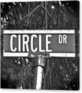 Ci - A Street Sign Named Circle Canvas Print
