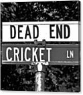 Cr - A Street Sign Named Cricket Canvas Print