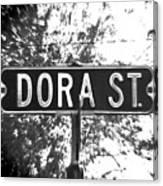 Do - A Street Sign Named Dora Canvas Print