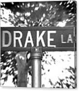 Dr - A Street Sign Named Drake Canvas Print