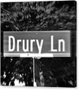 Dr - A Street Sign Named Drury Canvas Print