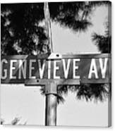 Ge - A Street Sign Named Genevieve Canvas Print