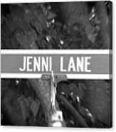 Je - A Street Sign Named Jenni Canvas Print