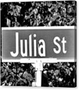 Ju - A Street Sign Named Julia Canvas Print