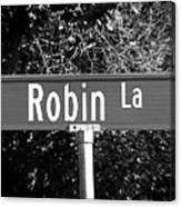 Ro - A Street Sign Named Robin Canvas Print