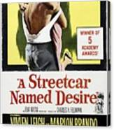 A Streetcar Named Desire Portrait Poster Canvas Print