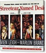 A Streetcar Named Desire Wide Poster Canvas Print