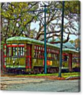 A Streetcar Named St. Charles Canvas Print