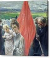 A Strike At Saint Ouen Canvas Print