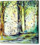 A Stroll On East 93rd Canvas Print