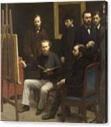 A Studio At Les Batignolles 1870 Canvas Print