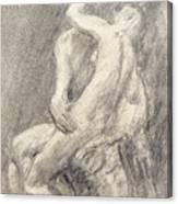 A Study Of Rodin's Kiss In His Studio Canvas Print