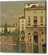 A Sultry Day In Venice Canvas Print