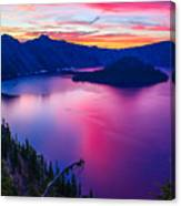 Crater Lake Sunset, Oregon Canvas Print